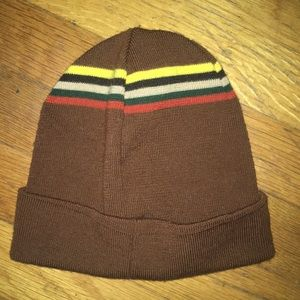 Accessories - Cool L.A.M.B style Brown and Striped Beanie